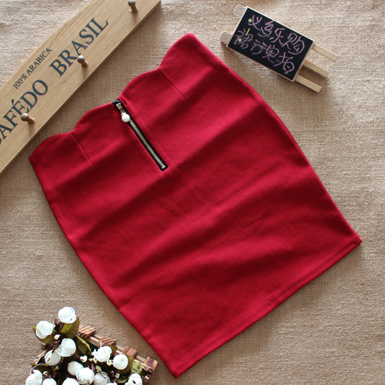 Spring ladies stretch cotton bag hip skirt a Korean version of the A word bust skirt skirt wholesale fashion personality 1