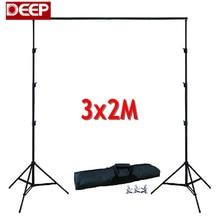 DHL TNT de FONDO 3 M X 2 M Muselina Telón de Fondo Ajustable Soporte sistema de Kit de Soporte de 4 secciones Photo Studio gotas 10 X $ Number Pies