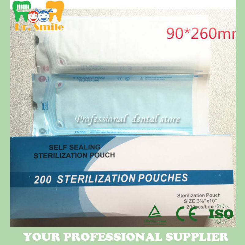 Persevering Sterilization Pouches Bags 200pcs/box 260 X 90mm Large Size Medical-grade Bag Disposable Tattoo Supplies Reasonable Price Teeth Whitening Oral Hygiene
