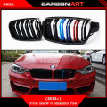 F30 F31 M3 style grill black M Color kidney grille styling M Performance bumper for BMW 3 Series 2012 + F30 316i 318d 320i 325d