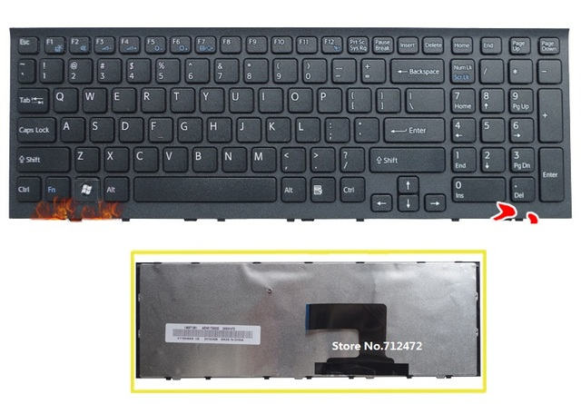SSEA New laptop US Keyboard for Sony Vaio VPC-EH VPCEH Series PCG-71811L PCG-71811M PCG-71811W PCG-71911L