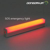 Usb Portable SOS Led Tube Light Load Mode Signal Lamp Rechargeable Lights Emergency Lights Camping Outdoor