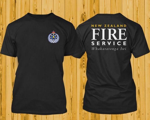 752d5bc3c 2018 Fashion Hot sale New Zealand Fire Service Whakaratonga Iwi Rescue  Firefighter Black Design TShirt tee shirt