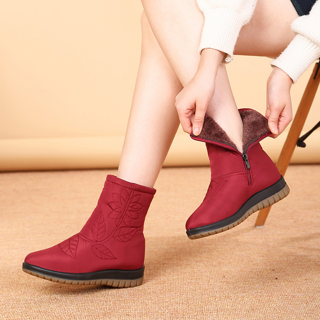 CEYANEAOWomen Boots Winter Shoes Women Plus Insole Snow Boots High Quality Fur Ankle Boots for Women Waterproof Winter shoesE751 1