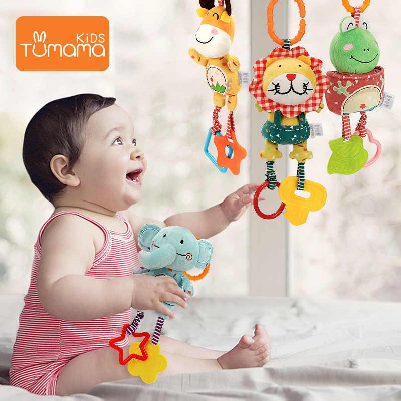 เด็กทารก Rattles รถเข็นเด็กทารกของเล่น Teethers Soft Plush Early Development รถเข็นเด็กแขวนของเล่นสำหรับทารกวันเกิดของขวัญ