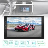 7 дюймов 4 ядра Android 7,1 2Din Bluetooth автомобильный FM Радио стерео плеер 1024x600 цифровой сенсорный экран gps навигации Ссылка/wi fi