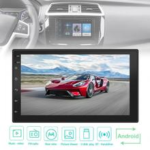 7 Inch QUAD Core Android 7.1 2Din Bluetooth Car FM Radio Stereo Player 1024x600 Digital Touch Screen GPS Navigation Link / Wifi