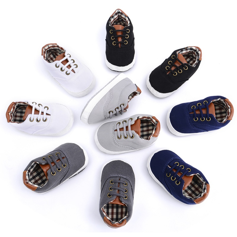 Fashion Kids Autumn Winter Toddler Baby Boys Shoes Leather Soft Sole Canvas Crib Shoes Sneakers