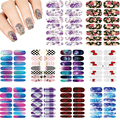 Hot 10pcs Set Hot Nails Art Sticker waterproof makeup water petal Harajuku style Nails Sticker transfer Decals accessories