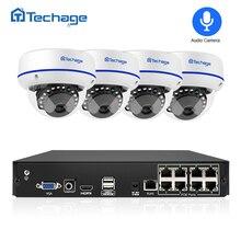 Techage безопасности камера системы 8CH 1080 P POE NVR комплект 2.0MP купольная аудио запись видеонаблюдения IP P2P видео набор для наблюдения