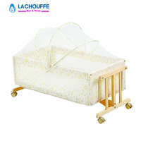 Sleeping Baby Bed Pine Solid Wood No Paint Factory Time Limited Trolley Rocking Boy girl bed Summer mattress for a limited time