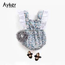Newborn Girl Bodysuit Summer Flying Sleeveless Bowknot Backless Kids Clothes Infant Climbing Clothing Jumpsuit Baby