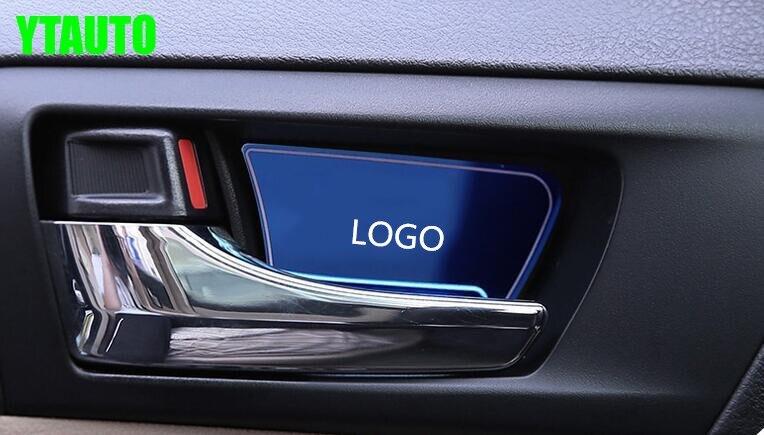 Двери авто внутренняя чаша Стикеры подкладке для литья Toyota Camry V55 2012-2017, нержавеющая сталь 4 шт./лот, тюнинг автомобилей