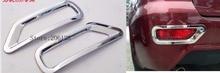 Vendita calda Per Lifan X60 Accessori Chrome Nebbia lampada Posteriore della Luce copertura Trim 2 pz 2011 2012 2013 2014 2015 Adesivi Car Styling