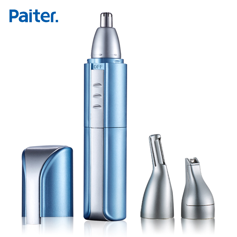 Paiter Men Electric Nose Hair Trimmer Ear Face Shaving Scissors Scraping Water Resistant Eyebrow Shaver Hair Cutting USB Charge
