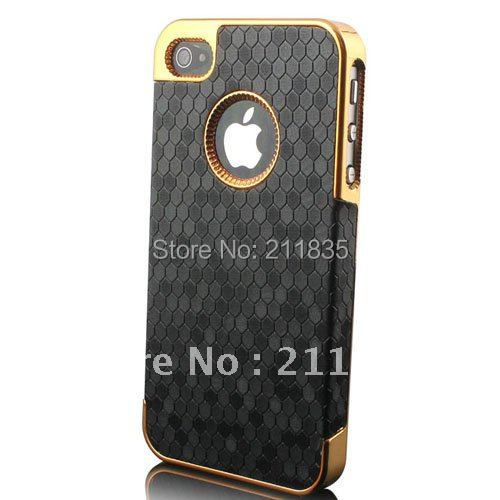 Ultra Slim Platinum Design Hard Case iPhone 4S 4 Luxury Phone Cover Accessory Free Gift - China's store
