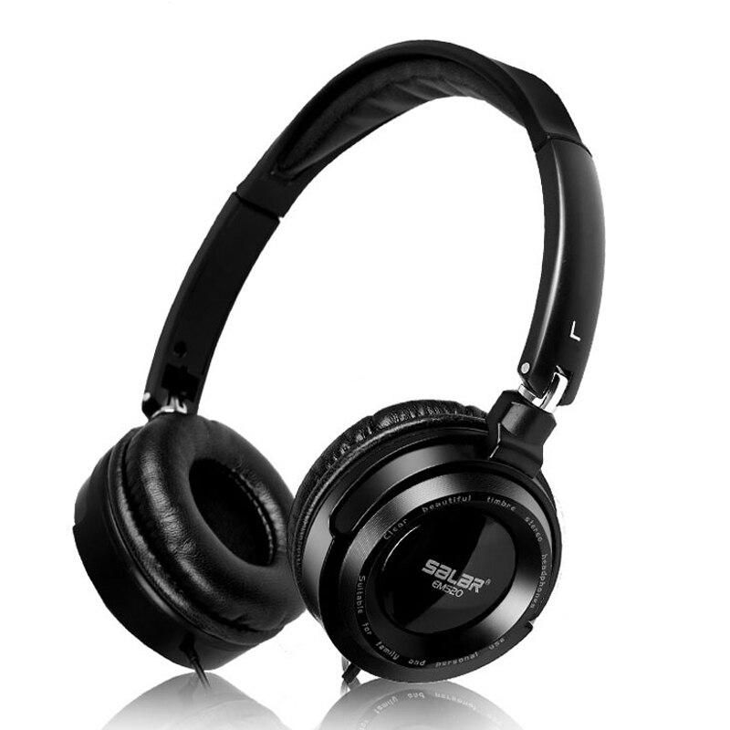 Salar em520 música profesional HiFi plegable Gaming Headset estéreo sin micrófono aislamiento de ruido auriculares con cable