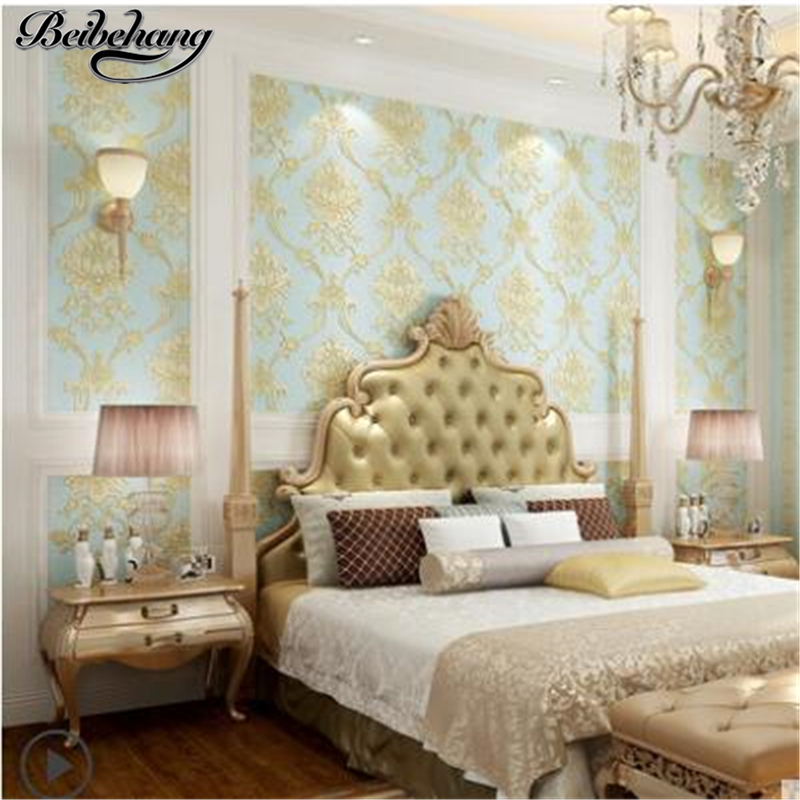 beibehang European non-woven wallpaper simple stereo living room bedroom background striped wallpaper AB with models wall paper beibehang wallpaper high grade environmental protection non woven wallpaper girl boy room room striped wall paper car children