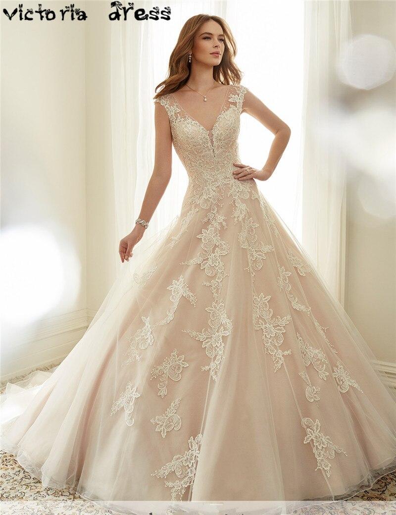 Vintage Wedding Dresses Pink : Cheap bridal dress princess a line vintage lace pink wedding