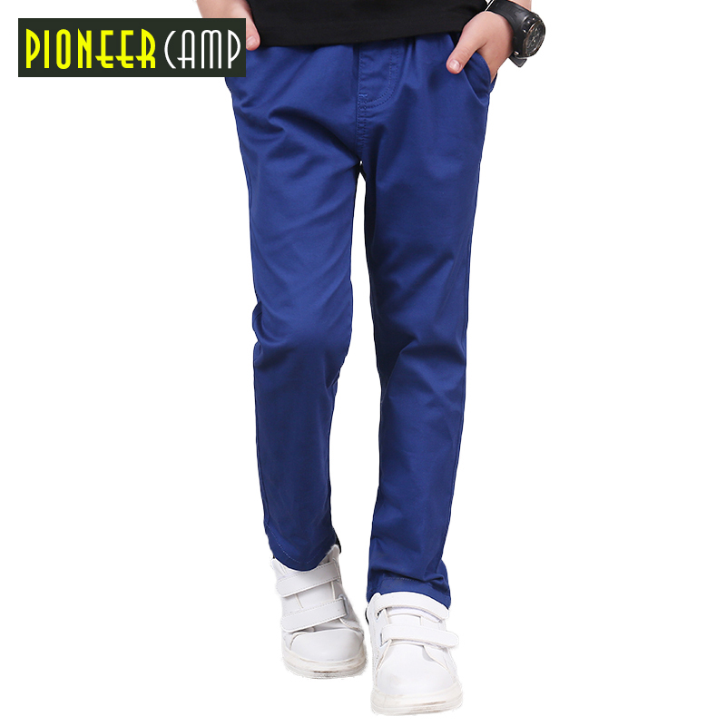 Pioneer Kids Roupas Infantis Menina For Boy Pants 2016 Designer Brand Long Soild All-match British Style Trouser For Children