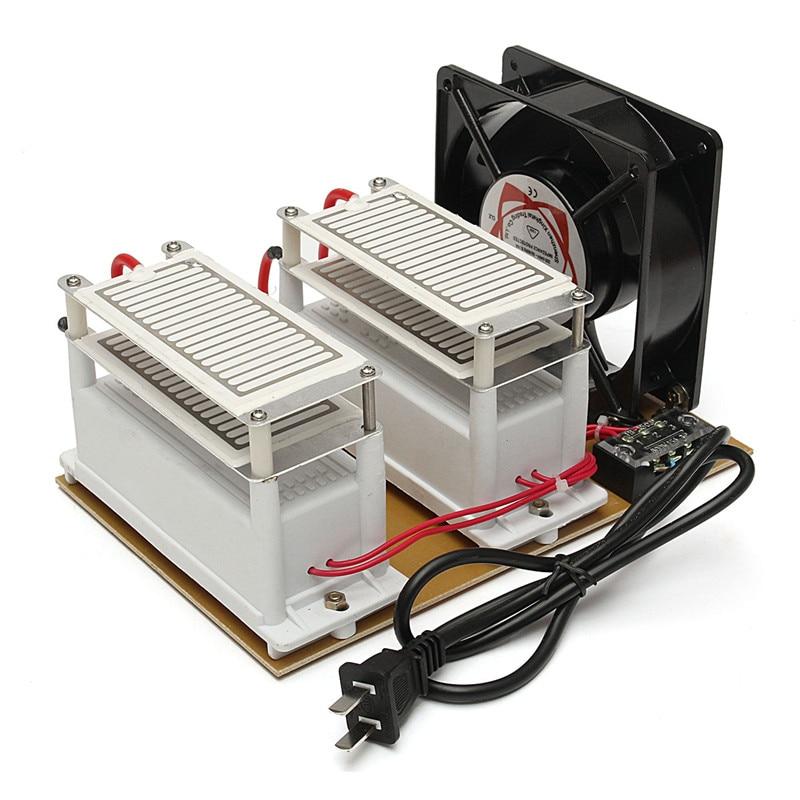 Tragbare 220V 20g h Ozongenerator Luftreiniger Fan Desinfektion Maschine Luft