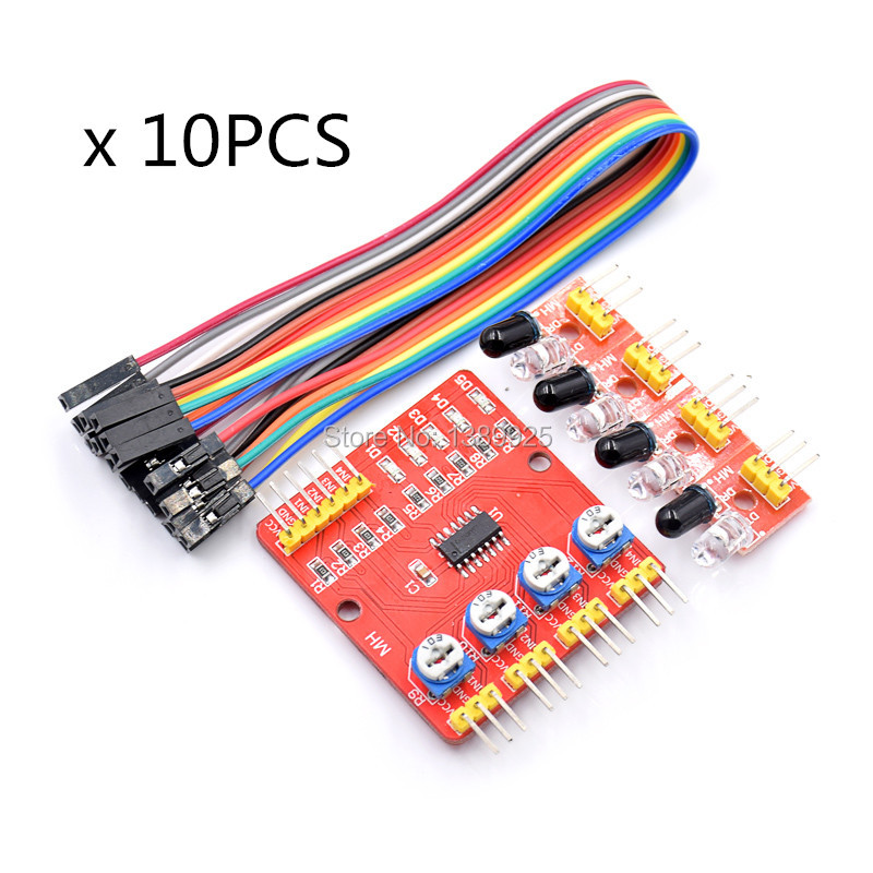 10pcs Four-way Infrared Tracing / 4 Channel Tracking Module / Transmission Line Module / Obstacle Avoidance/ Car / Robot Sensors