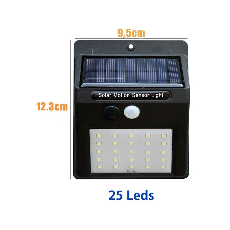 Led Solar Night Light PIR Motion Sensor Wall Light Waterproof 16/20/25/30 LEDs Energy Saving Outdoor Garden Security Solar Lamp 13