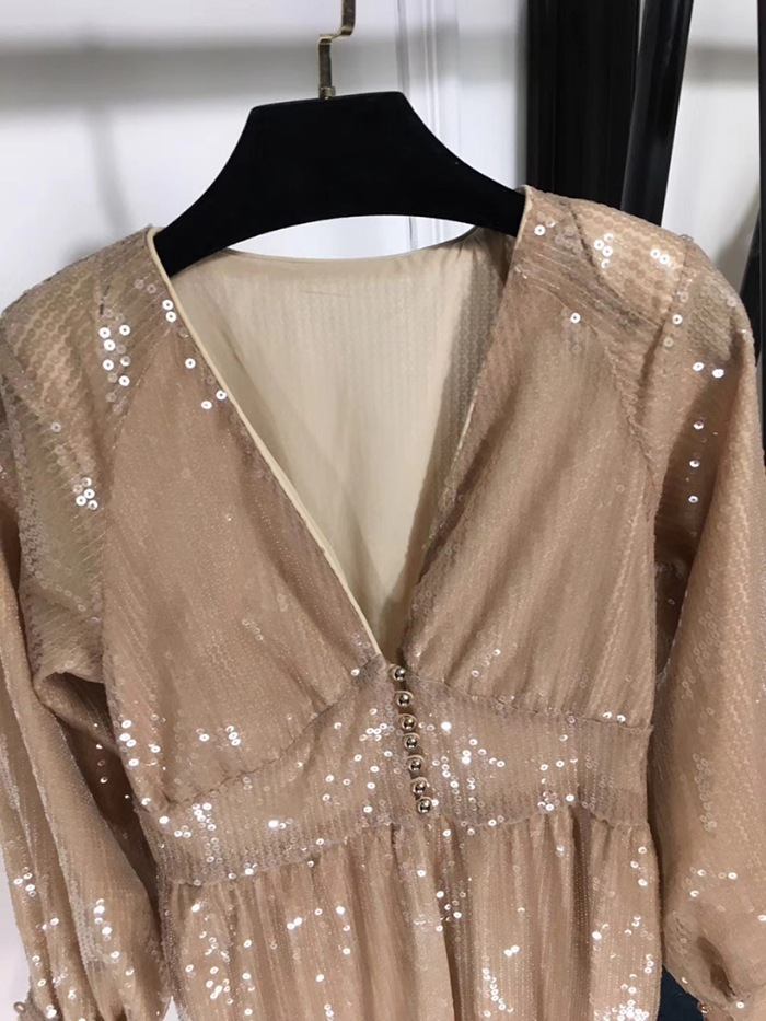 Paillettes Robe Fomolayime Robes Haute Couture Sexy 2018 Longues Partie Femmes PkuOXZTwi