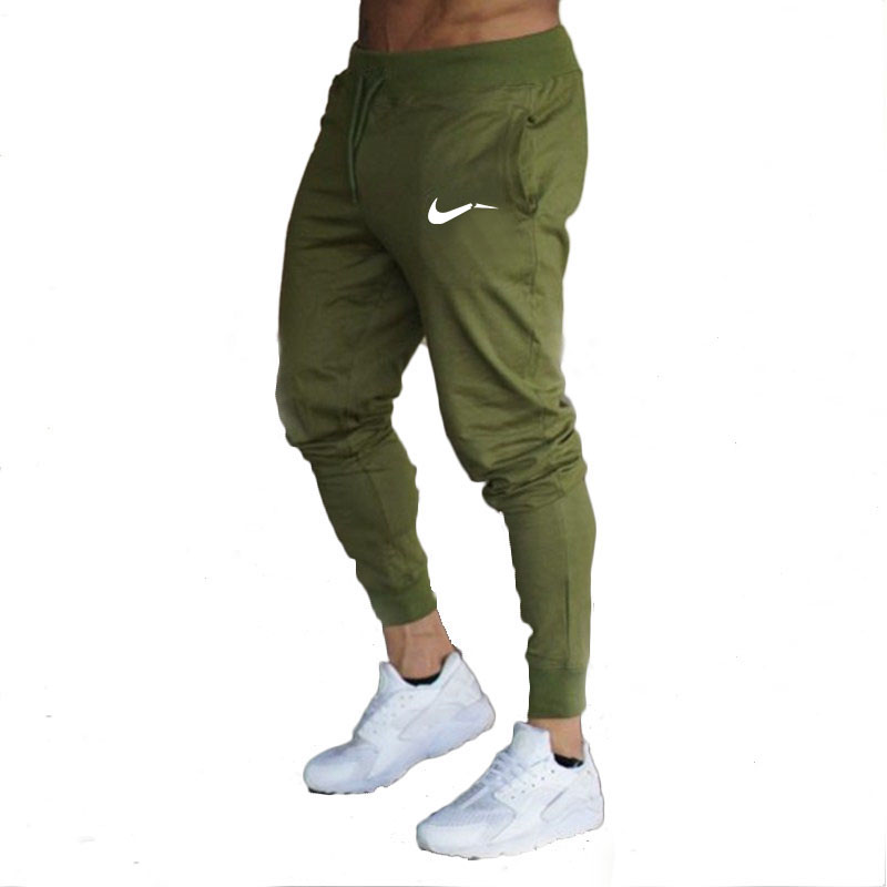 2019 New Brand Men Casual Pants casual Elastic cotton Mens Gyms Fitness Workout Pants skinny sweatpants Trousers Jogger Pants