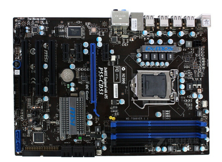 original motherboard for MSI P55-CD53 LGA 1156 DDR3 for i5 i7 cpu 16GB P55 Desktop motherboard Free shipping цена