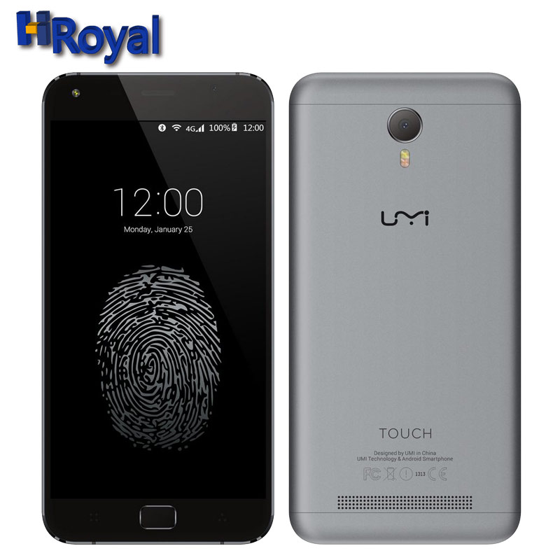 Original Umi Touch Smartphone 5.5 Inch Android 6.0 MTK6753 Octa Core Mobile Phone 3GB RAM16GB ROM 4000mAH Fingerprint Cell Phone