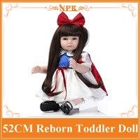 New Pattern NPK Reborn Babies Bonecas Bebe Toys With Fashionable Dress 52cm Lovely Newborn Baby Education