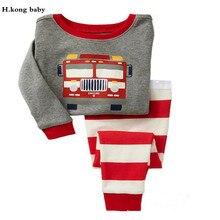Brand kids Pajamas Sets Cartoon animal pattern nightgown Children cotton Pyjamas girls boys lovely soft sleepwear clothes set