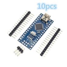 Z bootloaderem 10 sztuk/partia Nano 3.0 kontroler kompatybilny dla arduino nano CH340 dysk usb bez kabla