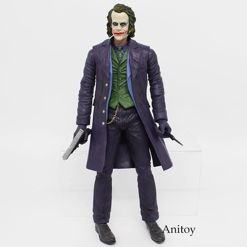 Toy Batman The Joker Figure Neca Batman Joker 30cm Action Figures PVC Collectible Model Toys Doll цена
