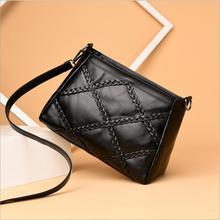 2018 Fashion Small PU Flap Bag Crossbody Bag Women Luxury Quilted Plaid Shoulder Handbags Famous Brand Design Lady Messenger Bag