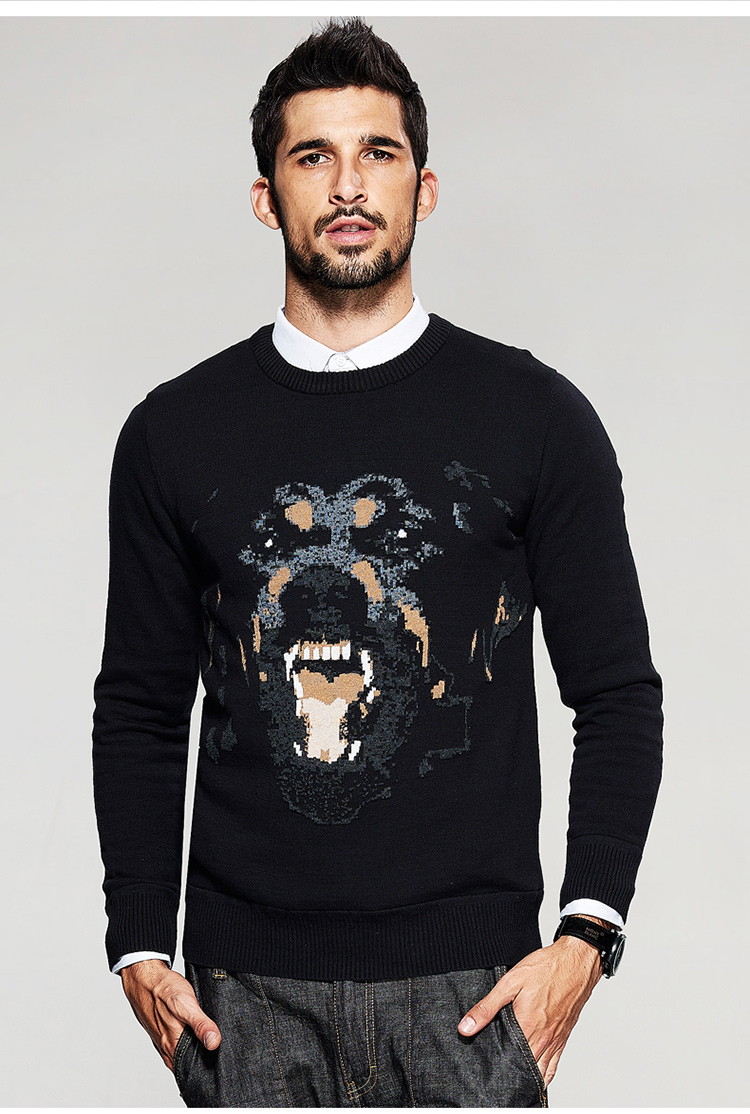 Free shipping winter fashion O-neck pullovers sweaters for man 16946