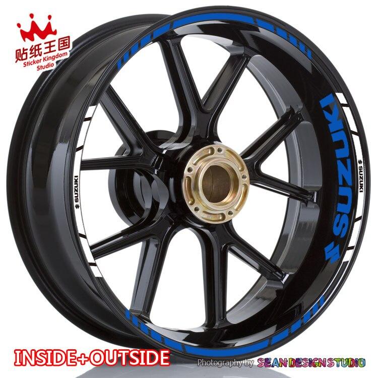 For GSXR GSX-R1000 750 600 GSXS GSX-S1000 750 Hayabusa GSX1300R V-Strom SV1000 650 Wheel Sticker Reflective MotorBike Rim Decal