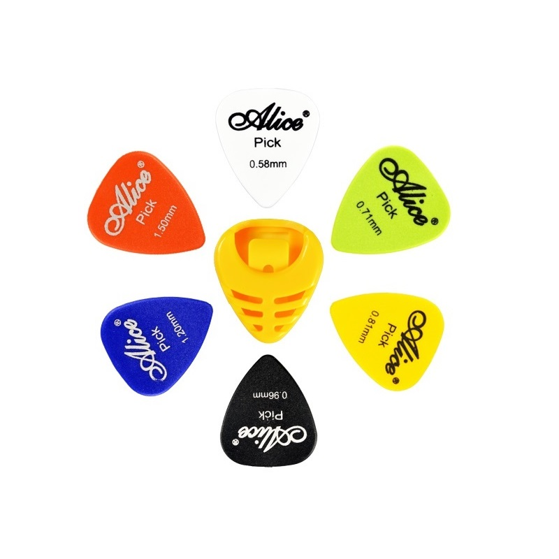 Color 30 pieces guitar picks 6 kinds of thickness choose tickness 0 58 0 71 0
