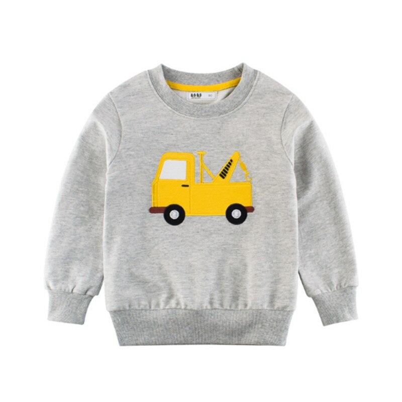 Sweatshirts Tops Autumn Boys Cartoon Cotton Children's New Spring Tees Applique 2-7T