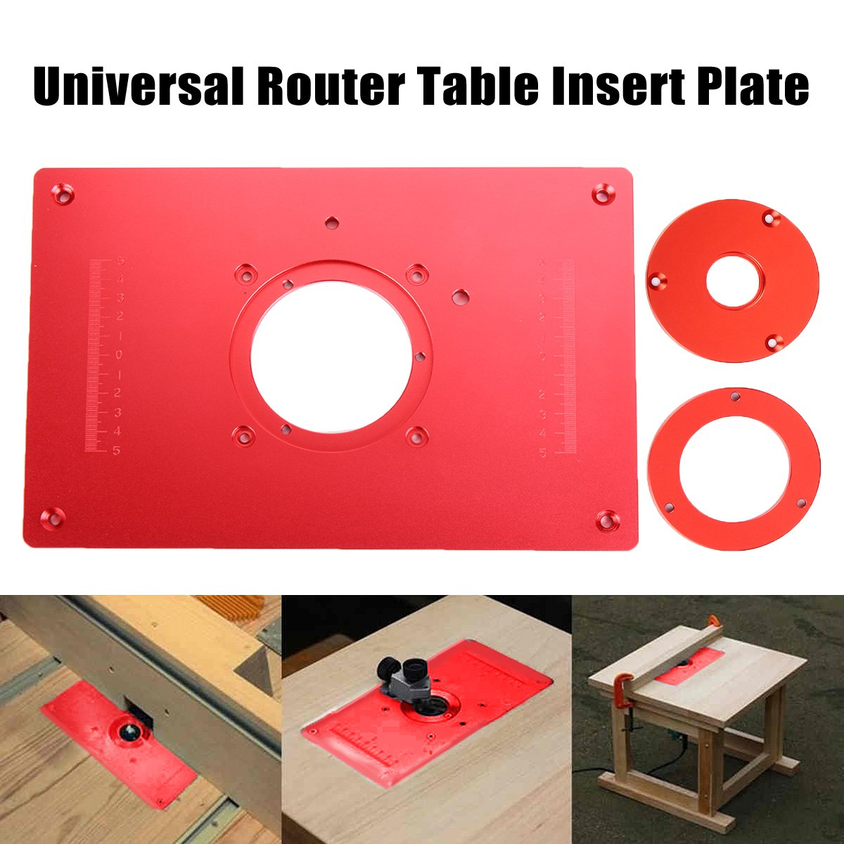 Universal Router Table Insert Plate Aluminium Alloy For DIY Woodworking Engraving Machine 200x300x10mm High Quality 300 235mm aluminum router table insert plate diy woodworking benches for popular router trimmers models engrving machine