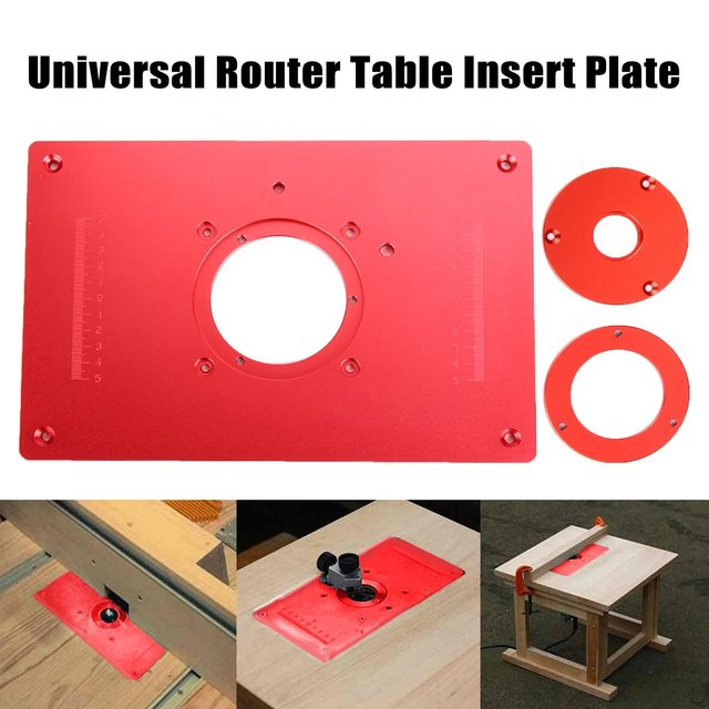 Universal router table insert plate aluminium alloy for diy universal router table insert plate aluminium alloy for diy woodworking engraving machine 200x300x10mm high quality greentooth Images