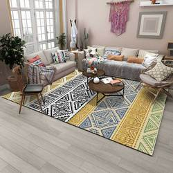 EHOMEBUY Bohemian Estilo Padrão Geométrico Quadrado Tapete Anti Derrapante Tapete de Área Tapete de Casa para Sala de estar Quarto Piso de Proteção