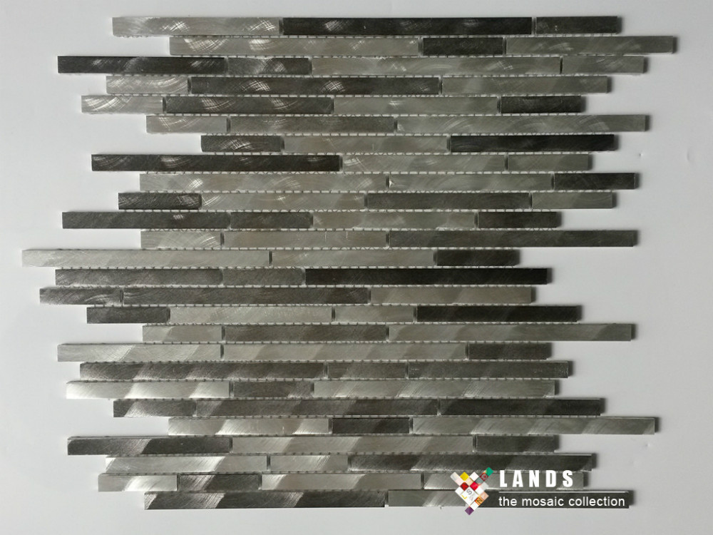 3D Silver Brown Metal mosaic tiles design,kitchen backsplash fireplace wallpaper tile,home border line DIYdecor sticker,LSAL0102