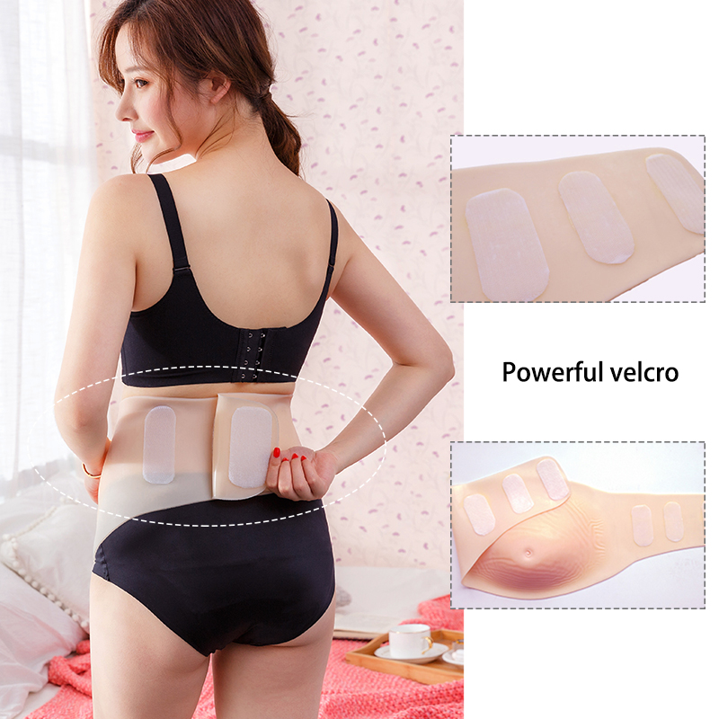 ONEFENG Skinless Belly 1200 1500g Fake Stomach Real Skin Silicone Belly for Drag Queen Crossdresser Fake Pregnant