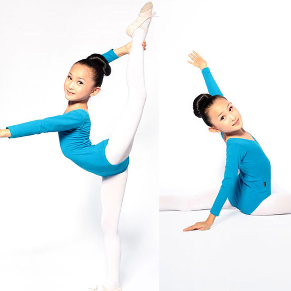 2018 Super Baby Hot Kid Girls Long Sleeve Ballet Dance Dress Clothes Gymnastics Skating Long Sleeve Leotards Costumes ballet-cl new girls ballet costumes sleeveless leotards dance dress ballet tutu gymnastics leotard acrobatics dancewear dress