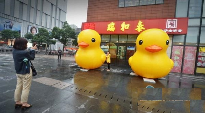 inflatable yellow duck  rubber duck use for open business ,Commercial activity,exhibition ,Christmas, outdoor advertisin (3 M ) дождевик yellow duck
