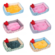 Multi-Color Soft PP Cotton Pet Dog Bed Winter Warm Padded Puppy Cat Sofa Cushion Waterproof Mat House