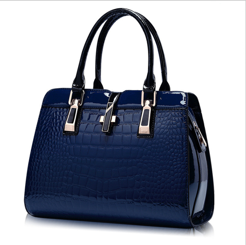 hot women patent leather handbags PU handbag leather women shoulder bag top-handle bags lady crossbody bag female bag термопот sakura sa 353wb white blue