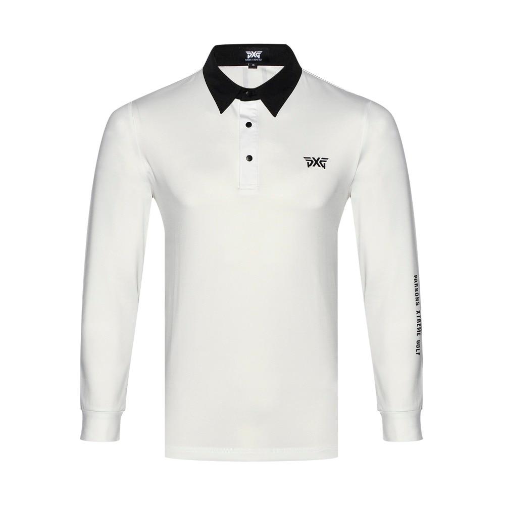 2018 Golf shirts Newest Autumn Long Sleeve Golf Aparrel Men Breathable Sport Golf Clothes Men'S Polo Shirts Tops Navy BlackTU